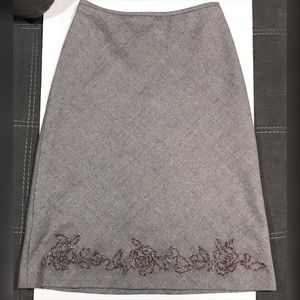 Margaret O'Leary embroidered Hem A-Line Skirt S